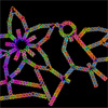 Computer-generated sketch of a DNA origami folded into a flower-and-bird structure. Credit: Hao Yan, Arizona State University.