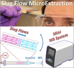 Illustration of Slug flow microextraction.